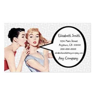 Gossipers retros de las mujeres de los años 50 tarjeta de visita