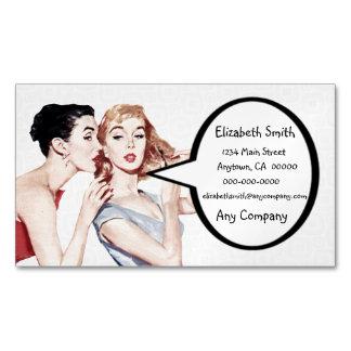 Gossipers retros de las mujeres de los años 50 tarjetas de visita magnéticas (paquete de 25)