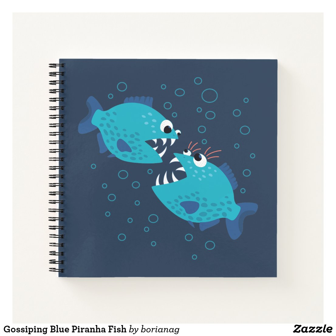 Gossiping Blue Piranha Fish