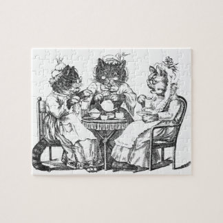 Gossiping Cats Have Tea Party Puzzle