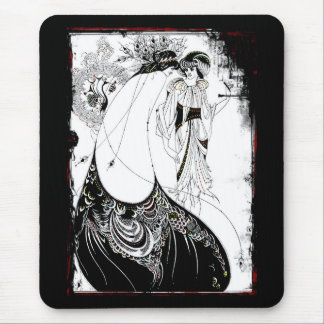 Gossiping in Their Fancy Dresses Mouse Pad