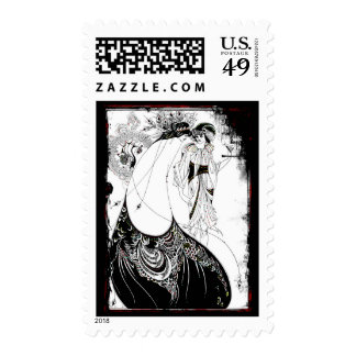 Gossiping in Their Fancy Dresses Postage Stamps