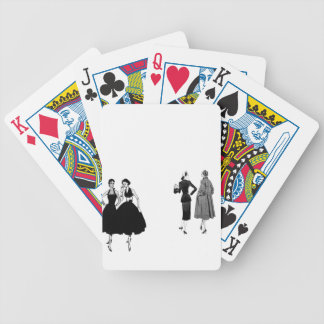 gossiping ladies bicycle playing cards