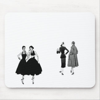 gossiping ladies mouse pads