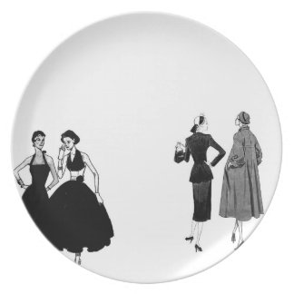 gossiping ladies who lunch plate
