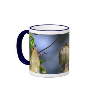 Gossiping Sparrow Mug mug