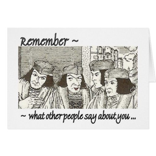 Gossips in AA?Funny 12 Step Recovery Greeting Card