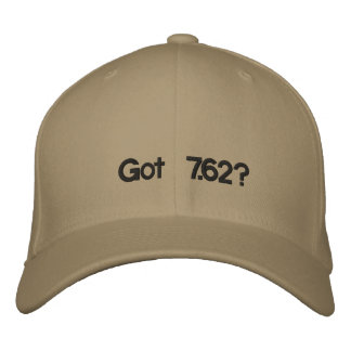 Got 7.62? embroidered baseball caps
