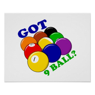 Got 9 Ball Pool Player Poster