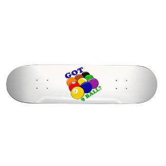 Got 9 Ball Pool Player Skateboard