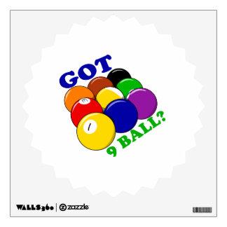 Got 9 Ball Pool Player Wall Sticker