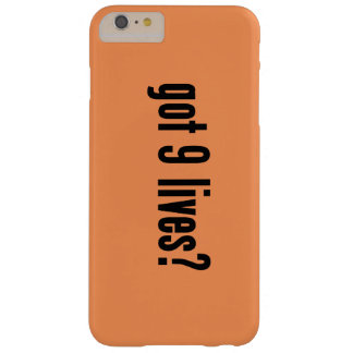 got 9 lives? barely there iPhone 6 plus case