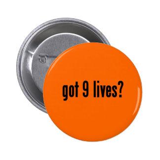 got 9 lives? pinback button