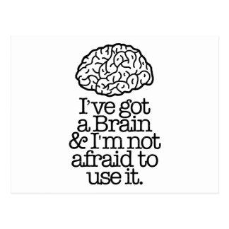 Got A Brain Postcard
