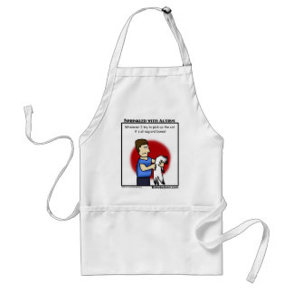 got a friend with autism or a cat or both? adult apron