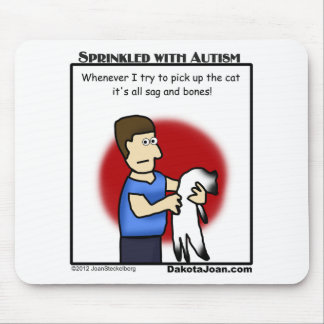 got a friend with autism or a cat or both? mouse pad