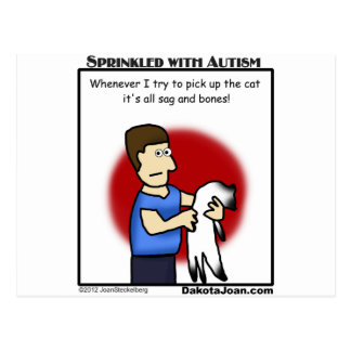 got a friend with autism or a cat or both? postcard