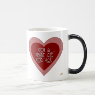 Got A Heart On For You Pink Red Heart Magic Mug