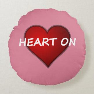 Got A Heart On Valentine's Day Round Pillow