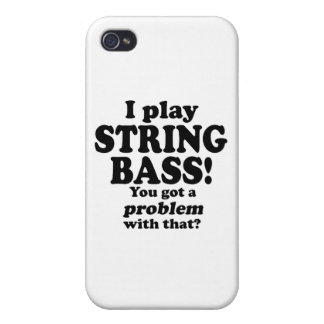 Got A Problem With That, String Bass iPhone 4/4S Covers