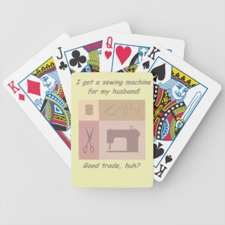 Got a sewing machine for my husband deck of cards