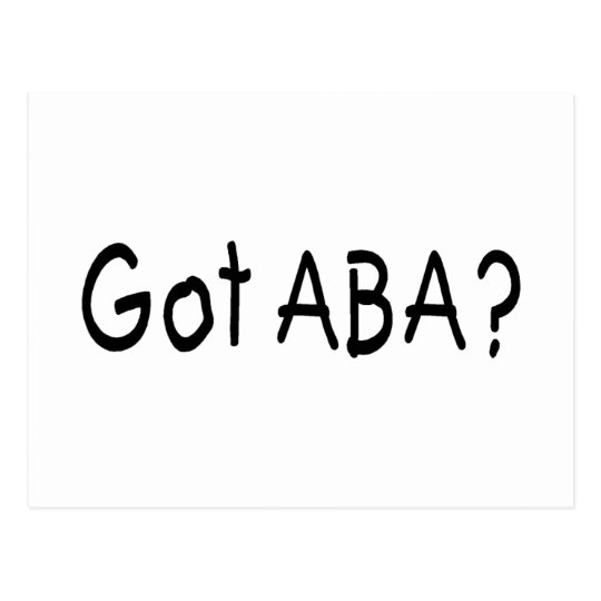 Got ABA (Blk Postcard