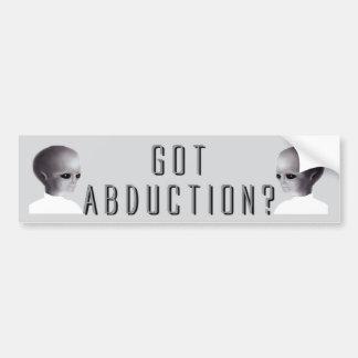 Got Abduction? Car Bumper Sticker