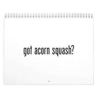 got acorn squash calendars