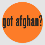 got afghan round stickers