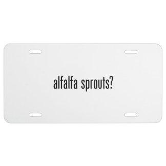 got alfalfa sprouts license plate