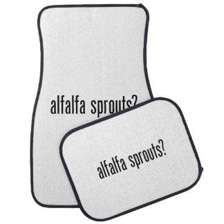 got alfalfa sprouts floor mat