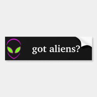 got aliens? bumper sticker