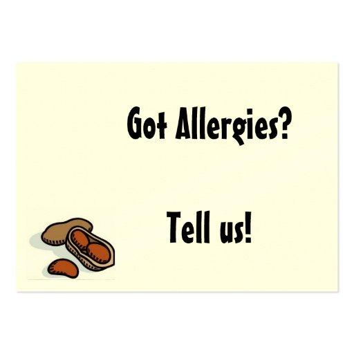 Got Allergies? Business Card Templates