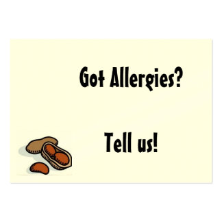 Got Allergies? Large Business Card