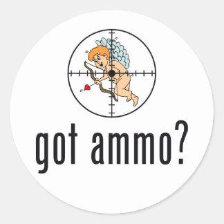 got ammo? (Anti-Valentine's Day) Classic Round Sticker