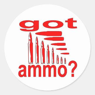 Got Ammo? Classic Round Sticker