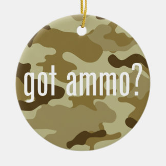 Got ammo? - single-sided Double-Sided ceramic round christmas ornament