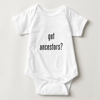 got ancestors? baby bodysuit