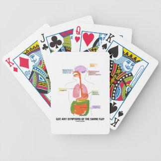 Got Any Symptoms Of The Swine Flu? (Anatomy) Playing Cards