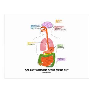 Got Any Symptoms Of The Swine Flu? (Anatomy) Postcard