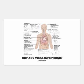 Got Any Viral Infections? Anatomical Health Rectangular Sticker