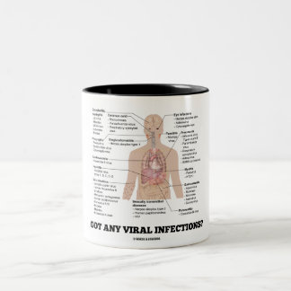 Got Any Viral Infections? Anatomical Health Two-Tone Coffee Mug