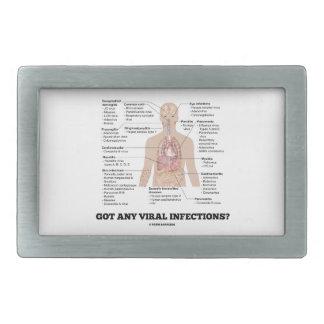 Got Any Viral Infections? Medical Anatomical Humor Rectangular Belt Buckles