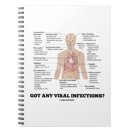 Got Any Viral Infections? Medical Anatomical Humor Spiral Note Books