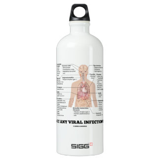 Got Any Viral Infections? Medical Anatomical Humor Water Bottle
