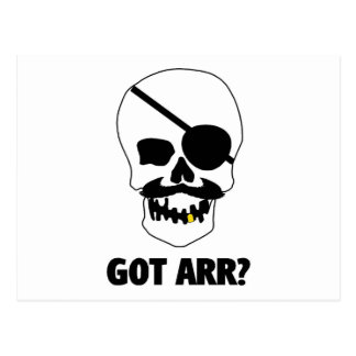 Got Arr? Pirate Skull Postcard