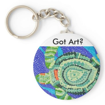 Ocean Themed Got Art, Little Turtle with Many Spots Keychain
