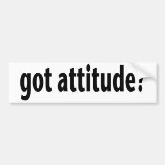 Got Attitude Bumper Stickers