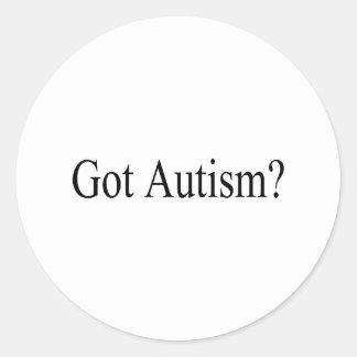Got Autism? Classic Round Sticker
