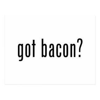 Got bacon postcard